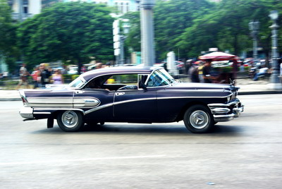 One of Cubas famous old cars